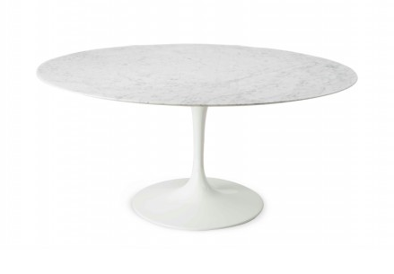 Tavolo tulip marmo di carrara - Tavolo ovale marmo bianco ...