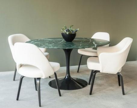 tavolo-tulip-rotondo-marmo-verde-alpi