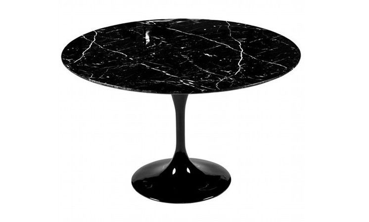 tavolo tulip marmo nero marquinia