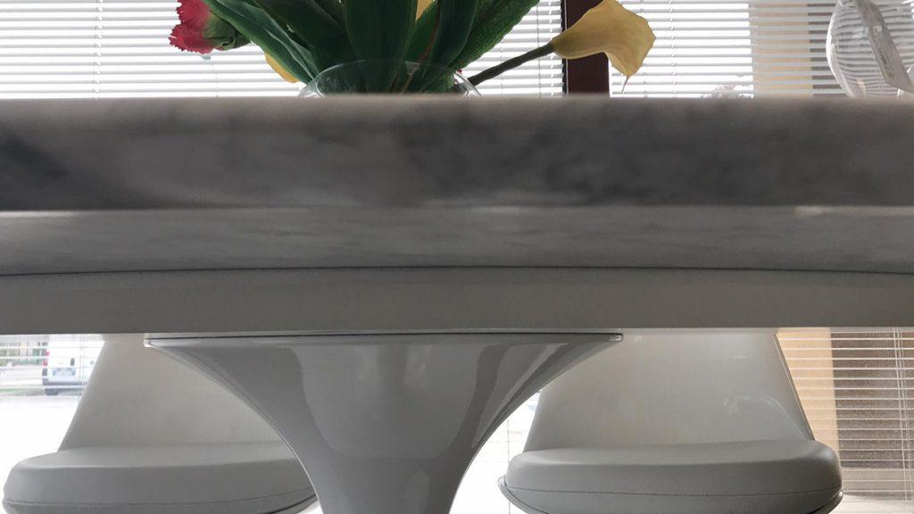 spessore piano tavolo Saarinen marmo di Carrara